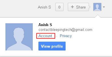 Account settings gmail