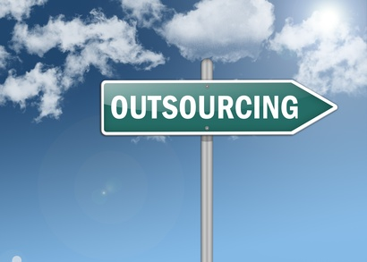"Signpost ""Outsourcing"""