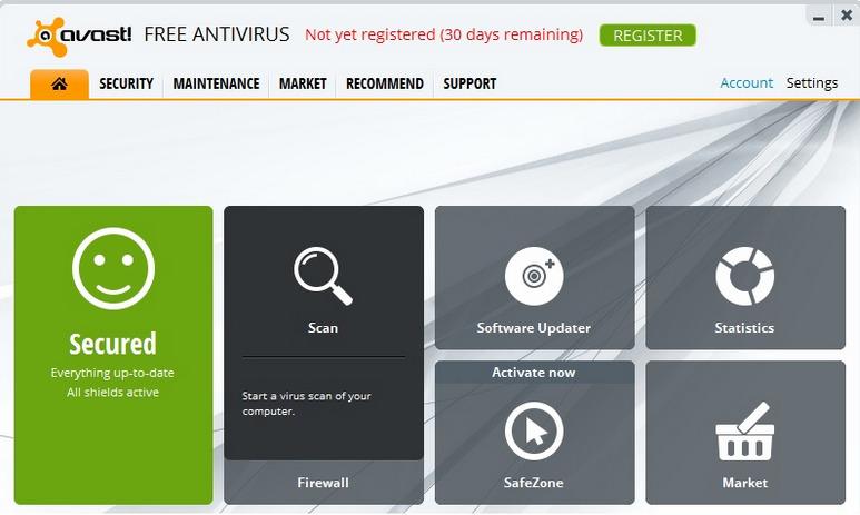 Avast Register