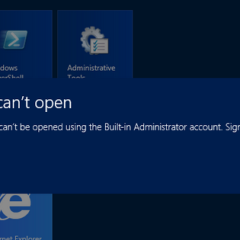 Windows 8 Fix : This app can't open for Built-in Administrator account