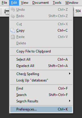 edit - preferences