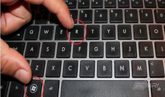 windows key  and R