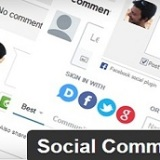 Install and configure wordpress social comments plugin