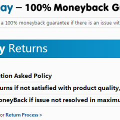 Does Snapdeal's Trustpay offer 100% Money Back Guarantee ?