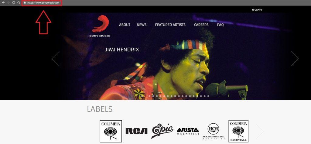 sony homepage