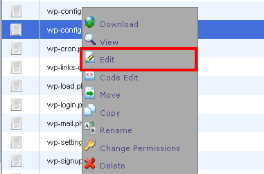 wp-config edit